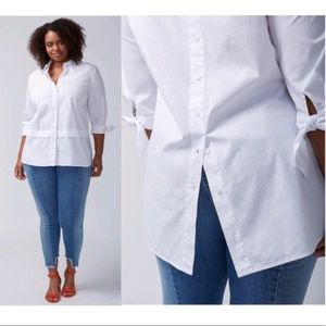 Lane Bryant Back Buttoned Detail 3/4 Sleeve Shirt